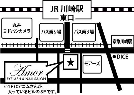 Amor川崎店map